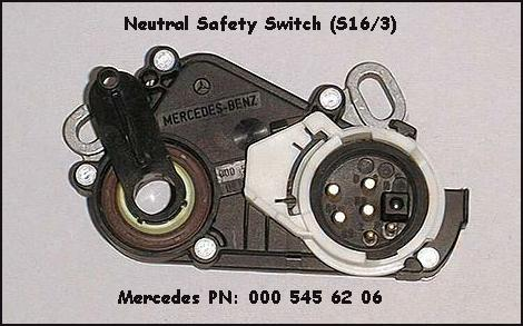 Neutral Safety Switch (S16/3)